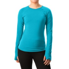 Icebreaker BodyFit 200 Zone Shirt - Merino Wool, Long Sleeve (For Women) in Aquamarine/Alpine - Closeouts