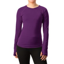 Icebreaker Bodyfit 200 Zone Shirt - Merino Wool, Long Sleeve (For Women) in Vino/Shocking - Closeouts