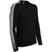 Icebreaker Bodyfit 260 Apex Base Layer Top - Merino Wool, Long Sleeve (For Men) in Black/Metro - Closeouts