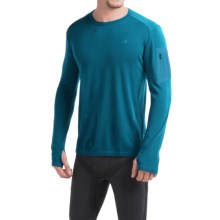 Icebreaker BodyFit 260 Apex Shirt - UPF 30+, Merino Wool, Long Sleeve (For Men) in Alpine/Carbon/Carbon - Closeouts