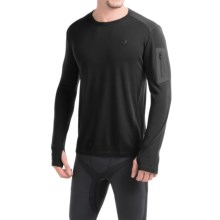 Icebreaker BodyFit 260 Apex Shirt - UPF 30+, Merino Wool, Long Sleeve (For Men) in Black/Black/Black - Closeouts