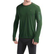 Icebreaker Bodyfit 260 Apex Shirt - UPF 30+, Merino Wool, Long Sleeve (For Men) in Conifer/Conifer/Balsam - Closeouts