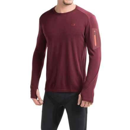 Icebreaker BodyFit 260 Apex Shirt - UPF 30+, Merino Wool, Long Sleeve (For Men) in Redwood/Redwood/Clay - Closeouts