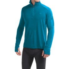 Icebreaker Bodyfit 260 Apex Zip Neck Shirt - UPF 30+, Merino Wool, Long Sleeve (For Men) in Alpine/Carbon/Carbon - Closeouts