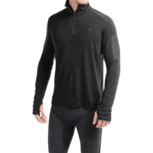 Icebreaker Bodyfit 260 Apex Zip Neck Shirt - UPF 30+, Merino Wool, Long Sleeve (For Men) in Black/Black/Black - Closeouts