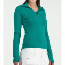 Icebreaker Bodyfit 260 Base Layer Top - Merino Wool, Zip Neck, Long Sleeve (For Women) in Emerald - Closeouts