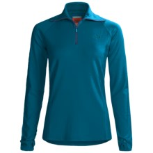 Icebreaker Bodyfit 260 Base Layer Top - Merino Wool, Zip Neck, Long Sleeve (For Women) in Stream - Closeouts