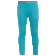 Icebreaker Bodyfit 260 Compass Base Layer Bottoms - Merino Wool, Midweight, UPF 30+ (For Kids) in Glacier/White - Closeouts