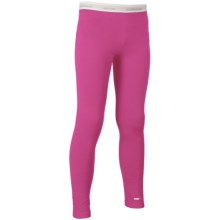 Icebreaker BodyFit 260 Compass Base Layer Bottoms - UPF 30+, Merino Wool (For Kids) in Magenta/White - Closeouts