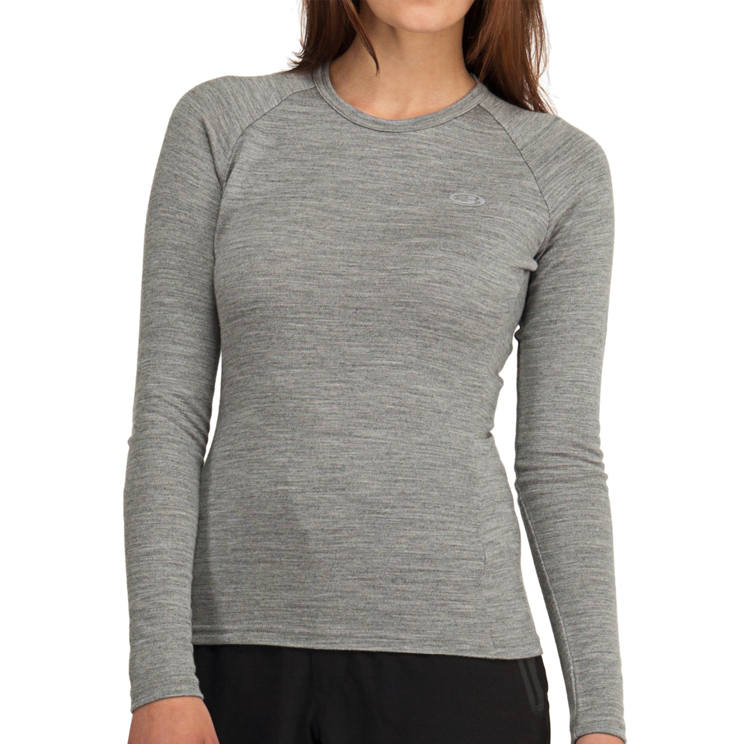 Icebreaker bodyfit 260 crew shirt merino wool upf 25 for Merino wool shirt womens