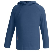 Icebreaker Bodyfit 260 Explorer Hoodie - Merino Wool, Lightweight, UPF 39+ (For Kids) in Denim - Closeouts