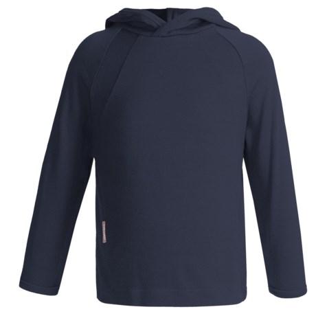 Icebreaker Bodyfit 260 Explorer Hoodie - Merino Wool, Lightweight, UPF 39+ (For Kids) in Ink