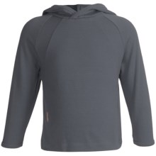 Icebreaker Bodyfit 260 Explorer Hoodie Sweatshirt - Merino Wool, Lightweight, UPF 39+ (For Kids) in Diesel - Closeouts