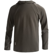Icebreaker Bodyfit 260 Explorer Hoodie Sweatshirt - Merino Wool, Lightweight, UPF 39+ (For Kids) in Flax - Closeouts