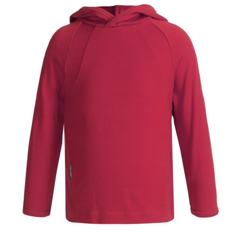 Icebreaker Bodyfit 260 Explorer Hoodie Sweatshirt - Merino Wool, Lightweight, UPF 39+ (For Kids) in Rouge