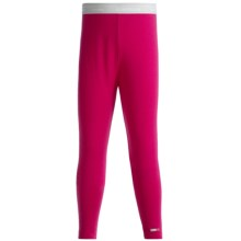 Icebreaker Bodyfit 260 Leggings - Merino Wool, UPF 39+ (For Girls) in Cerise - Closeouts