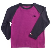 Icebreaker Bodyfit 260 Shirt - Merino Wool, Long Sleeve (For Kids) in Cranberry/Divine - Closeouts