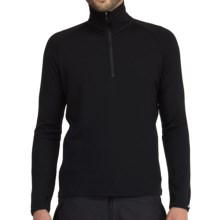 Icebreaker Bodyfit 260 Tech Base Layer Top - Merino Wool, Zip, Midweight, Long Sleeve (For Men) in Black - Closeouts