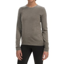Icebreaker Bodyfit 260 Tech Base Layer Top - UPF 30+, Merino Wool, Long Sleeve (For Women) in Trail Heather - Closeouts