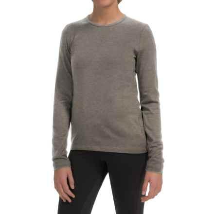 Icebreaker BodyFit 260 Tech Base Layer Top - UPF 30+, Merino Wool, Long Sleeve (For Women) in Trail Heather - Closeouts