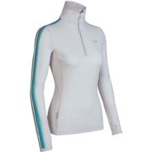 Icebreaker Bodyfit 260 Vertex Base Layer Top - Merino Wool, Zip Neck, Long Sleeve (For Women) in Bone - Closeouts