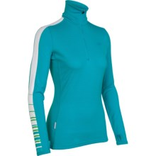 Icebreaker Bodyfit 260 Vertex Base Layer Top - Merino Wool, Zip Neck, Long Sleeve (For Women) in Gulf - Closeouts