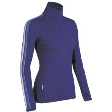 Icebreaker Bodyfit 260 Vertex Base Layer Top - Merino Wool, Zip Neck, Long Sleeve (For Women) in Horizon - Closeouts