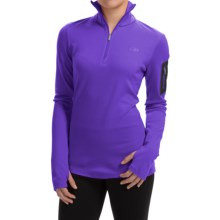 Icebreaker BodyFit 260 Vertex Base Layer Top - UPF 30+, Merino Wool, Zip Neck, Long Sleeve (For Women) in Lupin/Lupin/Black - Closeouts