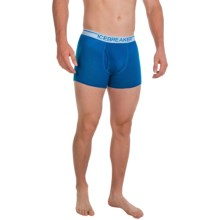 Icebreaker BodyFit Boxer Briefs - Merino Wool (For Men) in Awesome Blue/White - Closeouts