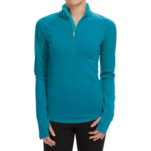Icebreaker BodyFitZONE 200 Base Layer Top - Merino Wool, UPF 40+, Zip Neck, Long Sleeve (For Women) in Alpine/Aquamarine/Aquamarine - Closeouts