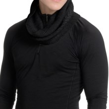 Icebreaker Boreal Infinity Scarf - Merino Wool Blend (For Men and Women) in Black - Closeouts