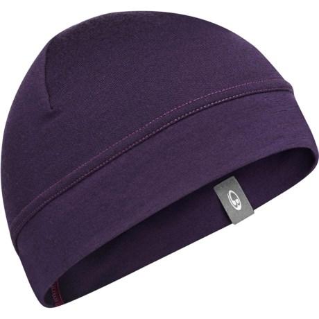 Icebreaker Camper Beanie Hat - Merino Wool (For Kids and Youth) in Lotus/Magenta