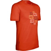Icebreaker Camper Tech T Lite T-Shirt - Merino Wool, Short Sleeve (For Men) in Cajun - Closeouts