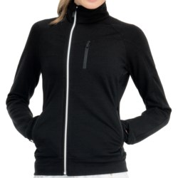 Icebreaker Carve GT 320 Shirt - UPF 50+, Merino Wool, Long Sleeve (For Women) in Black