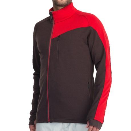 Icebreaker Carve GT 320 Zip Shirt - UPF 40+, Merino Wool, Long Sleeve (For Men) in Walnut/Rocket