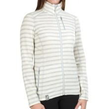 Icebreaker Cascade Jacket - Merino Wool, UPF 20+ (For Women) in Blizzard Heather/Blizzard Heather - Closeouts
