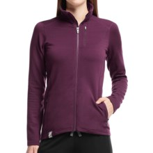 Icebreaker Cascade RealFleece 260 Jacket - UPF 20+, Merino Wool, Full Zip (For Women) in Maroon/Maroon/Maroon - Closeouts