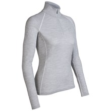 Icebreaker Chakra Skin 200 Base Layer Top - Lightweight, Merino Wool, Long Sleeve (For Women) in Blizzard - Closeouts