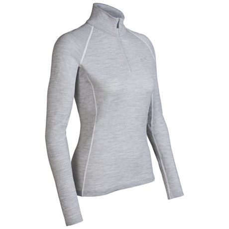 Icebreaker Chakra Skin 200 Base Layer Top - Lightweight, Merino Wool, Long Sleeve (For Women) in Blizzard