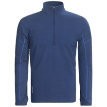Icebreaker Chase Base Layer Top - Merino Wool, Zip Neck, Long Sleeve (For Men) in Lapis - Closeouts