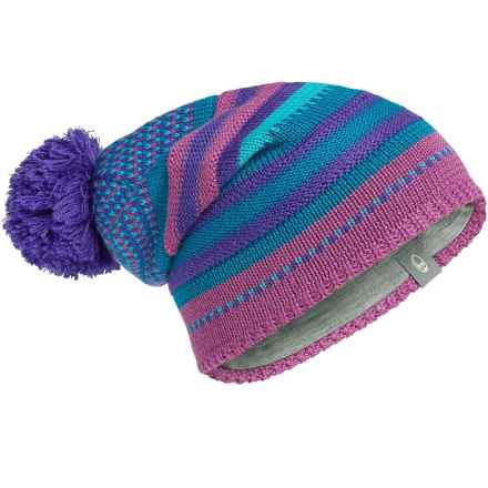 Icebreaker Chateau Slouchy Beanie - Merino Wool (For Men and Women) in Sweetpea/Lupin/Alpine - Closeouts