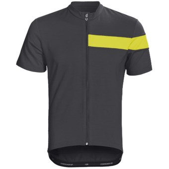 Icebreaker Circuit Cycling Jersey - Merino Wool, Full Zip, Short Sleeve (For Men) in Monsoon