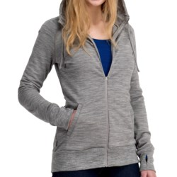 Icebreaker City 260 Crush Hoodie Sweatshirt - UPF 50+, Merino Wool (For Women) in Black