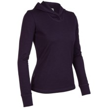 Icebreaker City 260 Zephyr Hooded Sweater - Merino Wool (For Women) in Bordeaux - Closeouts