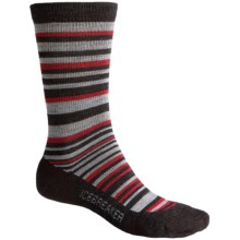 Icebreaker City Lite Crew Socks - Merino Wool (For Men) in Earthern/Panama/Bone/Rocket - 2nds