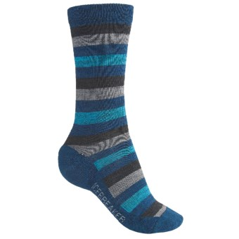 Icebreaker City Lite Socks - Merino Wool, Crew (For Women) in F97 Persian/Jet/Twister/Belize