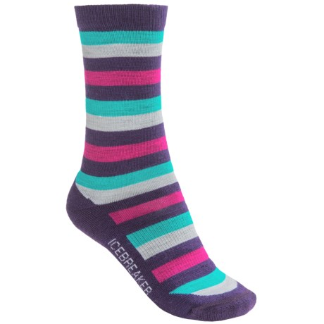 Icebreaker City Lite Socks - Merino Wool, Crew (For Women) in Lotus/Magenta
