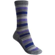 Icebreaker City Lite Socks - Merino Wool, Crew (For Women) in Metro/Bone/Wisteria/Horizon - 2nds