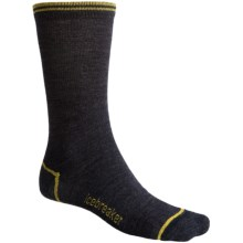Icebreaker City Ultralite Crew Socks - Merino Wool (For Men) in Jet/Flash/Black - 2nds