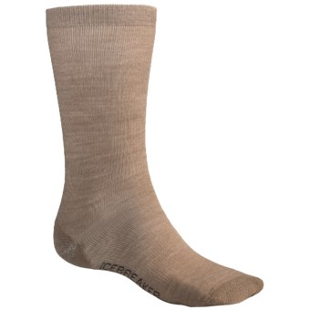 Icebreaker City Ultralite Crew Socks  - Merino Wool (For Men) in Khaki